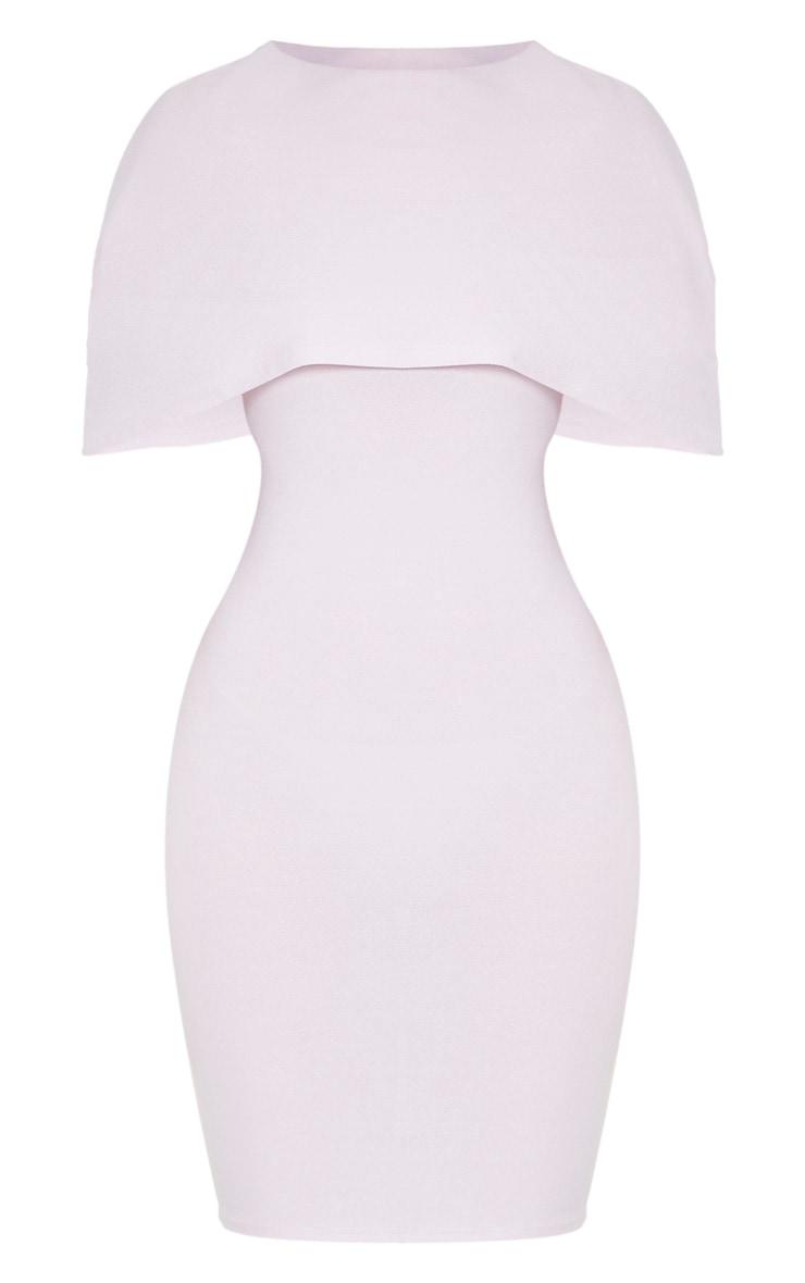 Lilac Cape Detail Midi Dress 3