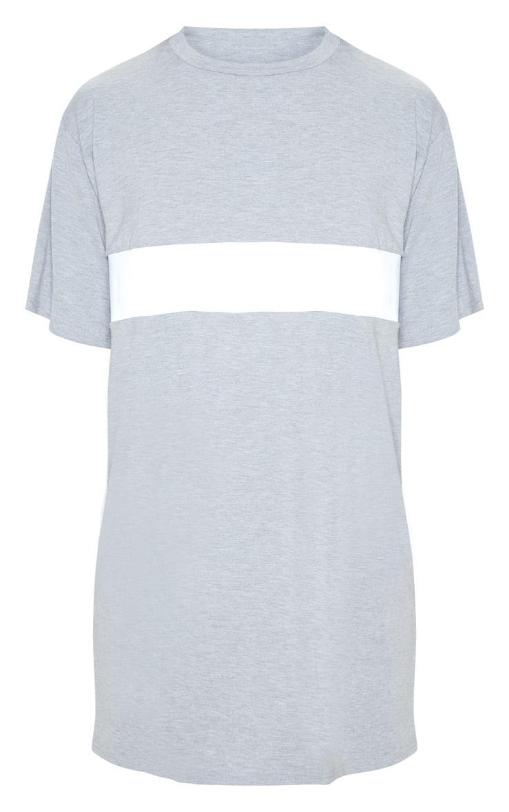 Grey Reflective Panel T Shirt Dress 3