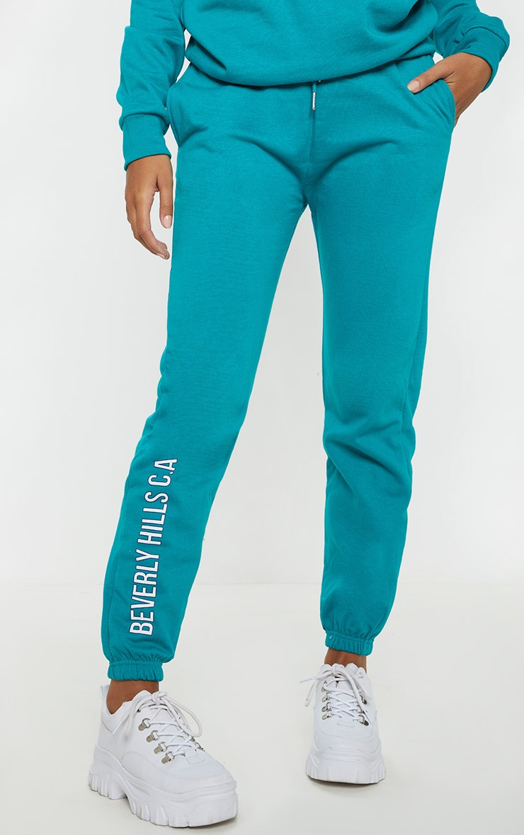 Teal Beverly Hills Slogan Jogger 2