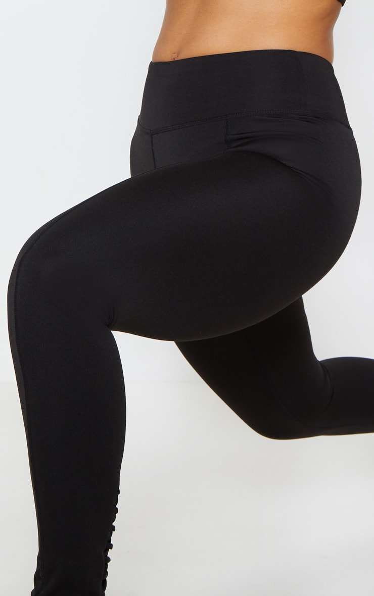 Black Lace Back Cuff Gym Legging 5