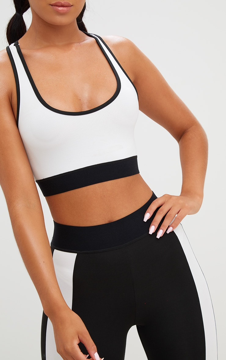 White Monochrome Crop Top 5