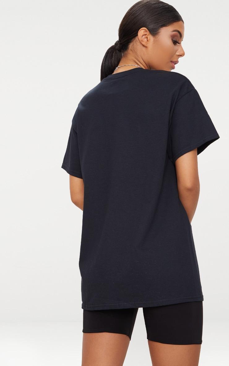 Black Chicago Slogan Oversized T Shirt 2
