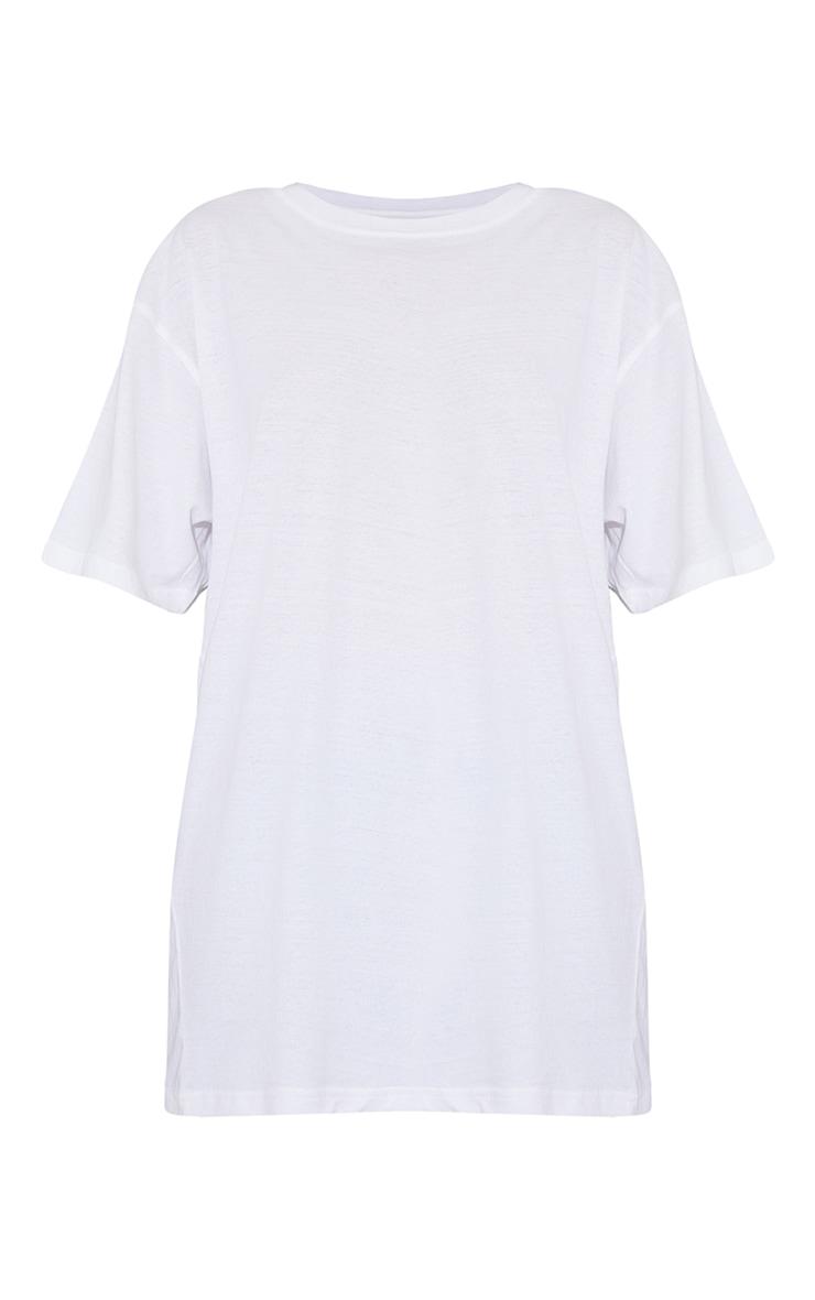 White 1980 World Tour Graphic Oversized T Shirt 5