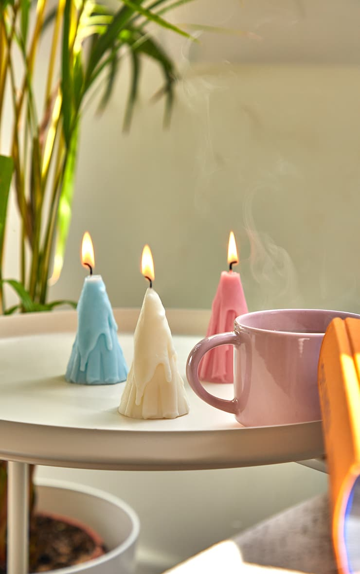 Baby Pink Dripping Cone Scented Soy Wax Candle 8cm 2