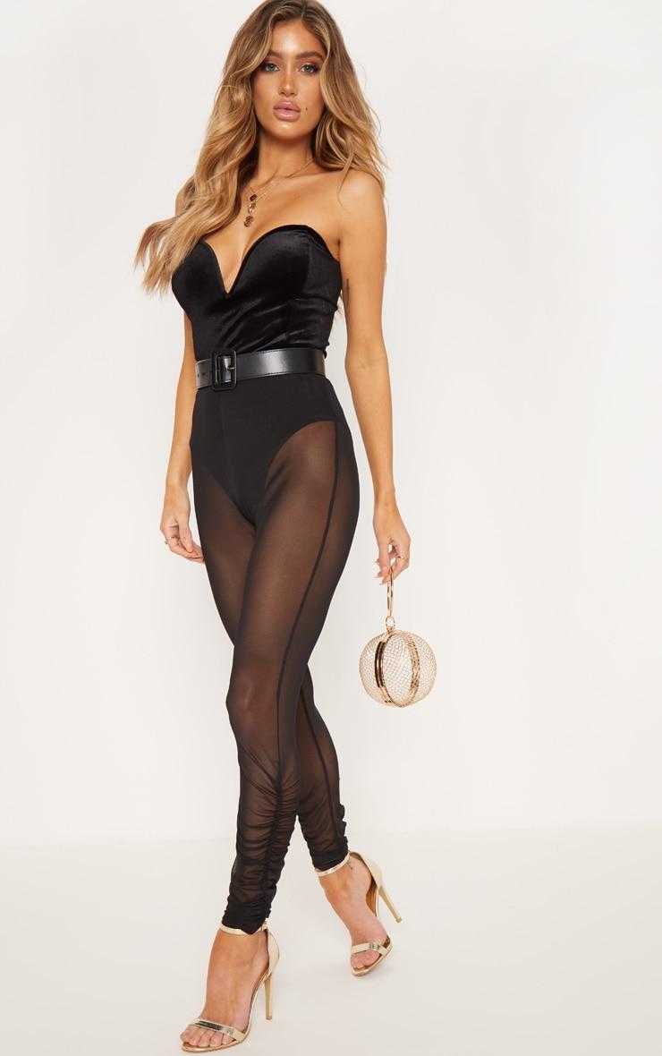 Black Velvet Deep Plunge Bodysuit 4