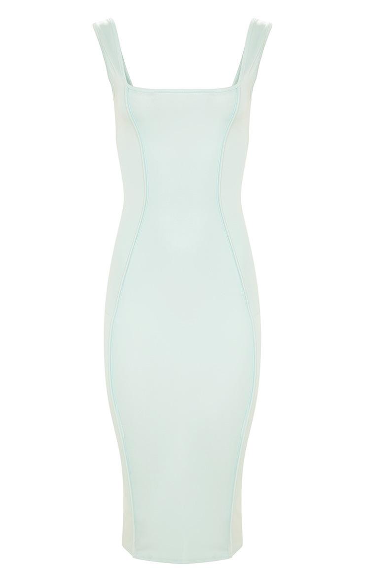 Aqua Second Skin Square Neck Binding Detail Midaxi Dress 3