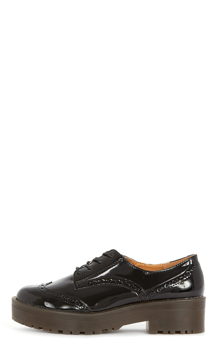 Taja Black Patent Brogue  1