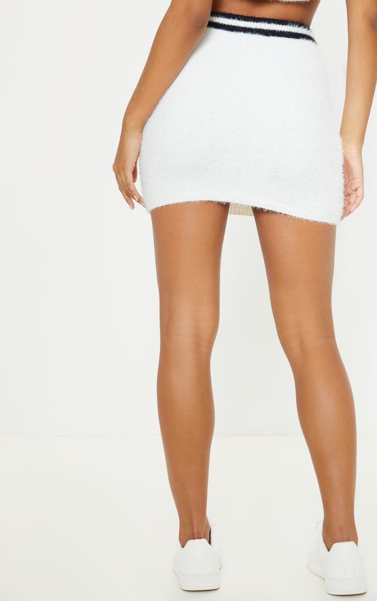 Cream Eyelash Knitted Skirt 4