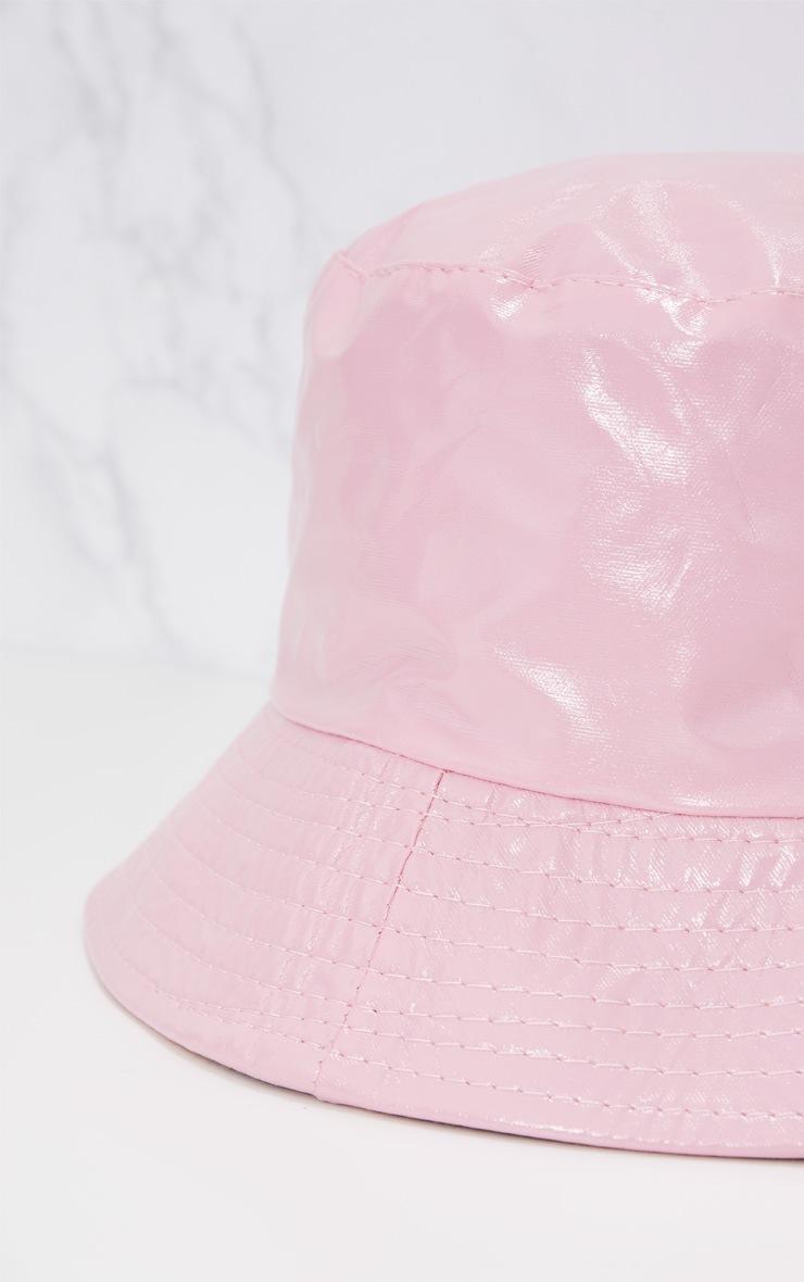 Pink Vinyl Bucket Hat 4