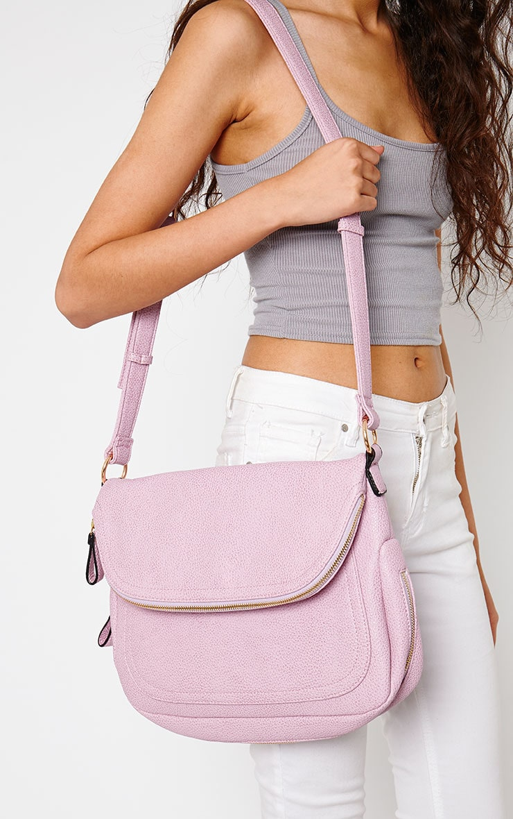 Bianca Lilac Shoulder Bag 1
