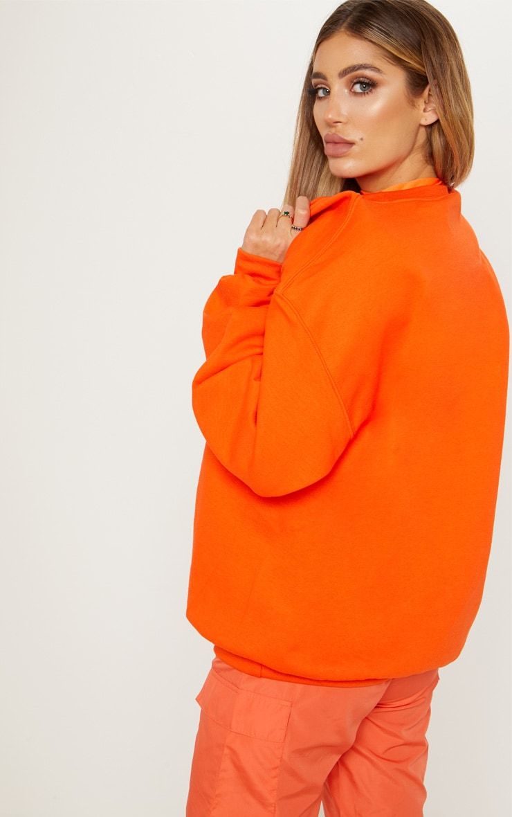 Sweat oversize orange classique 2