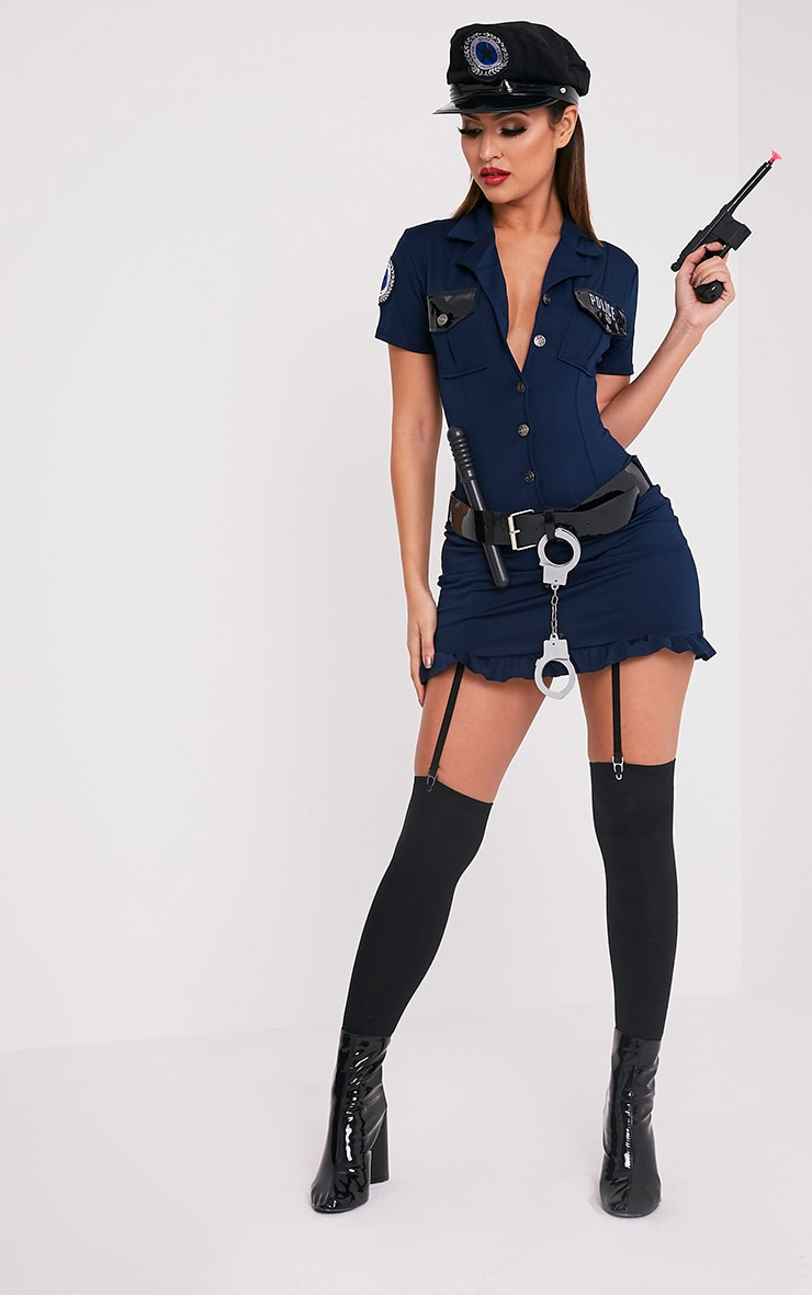 Police Officer Navy Fancy Dress Costume 4