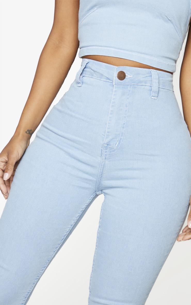 Shape Light Blue Wash High Waist Cropped Jeans 4