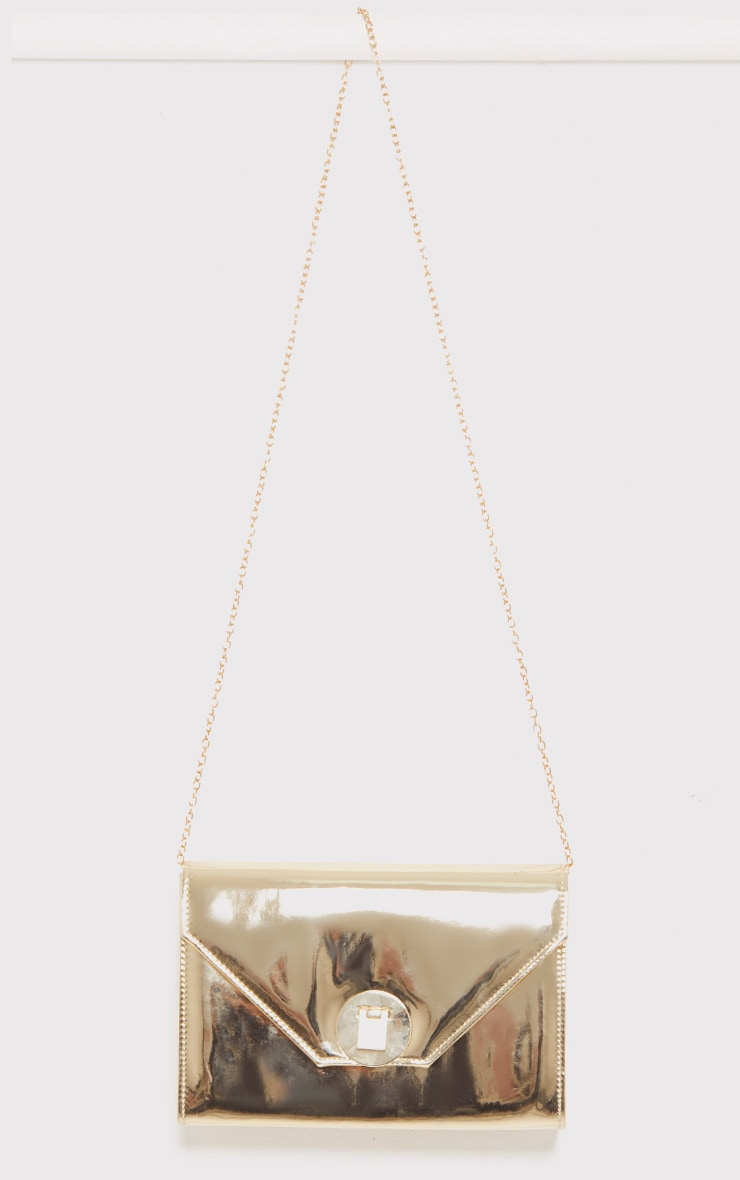 Lyla Gold Padlock Mirror Clutch 4