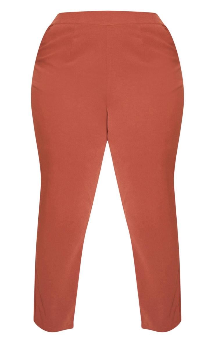 Plus Chocolate Brown Tailored Pants 4
