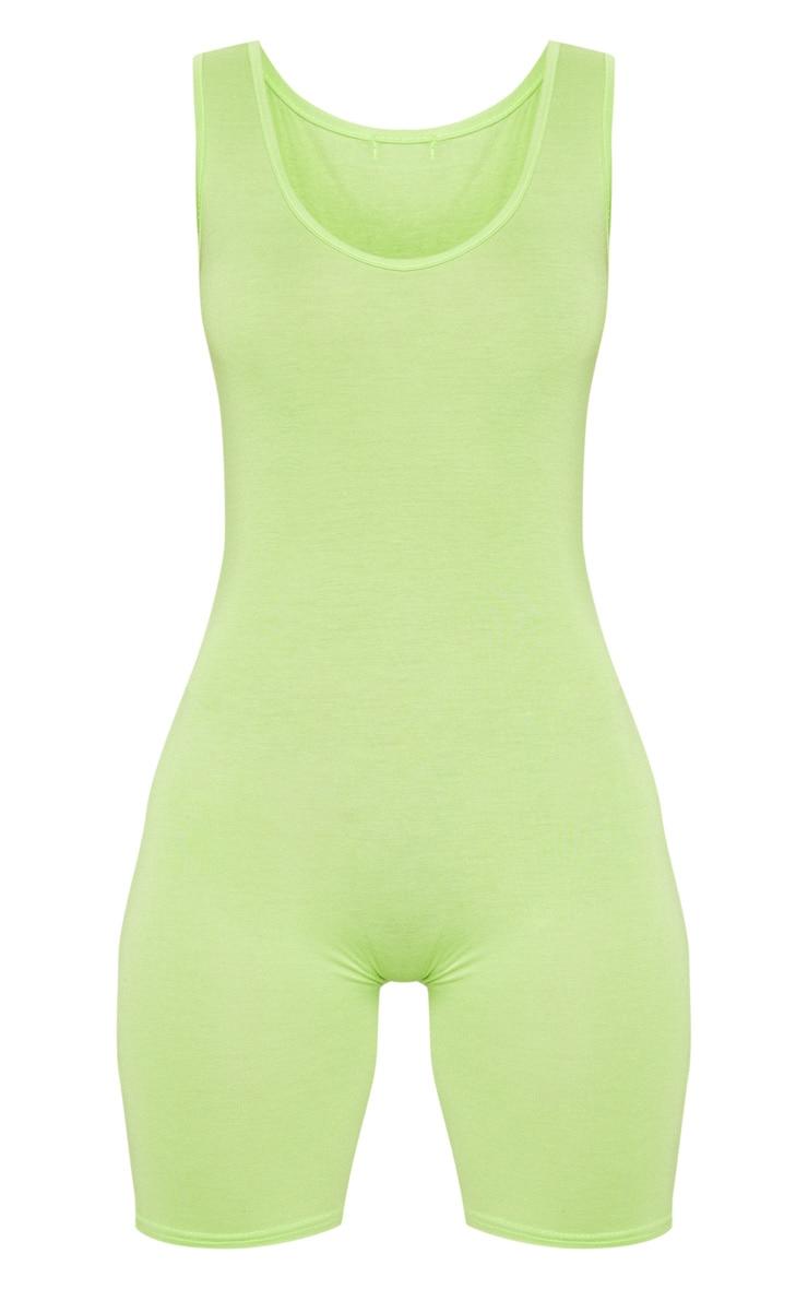 Petite - Combishort moulant basique vert citron 3