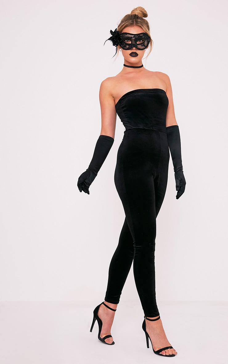 Black Satin Long Gloves 2