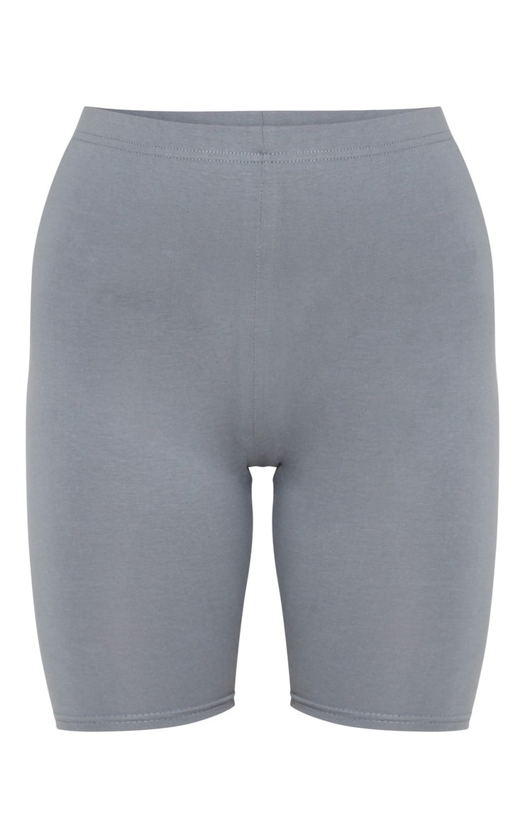 Charcoal Grey Cotton Stretch Cycling Shorts 6