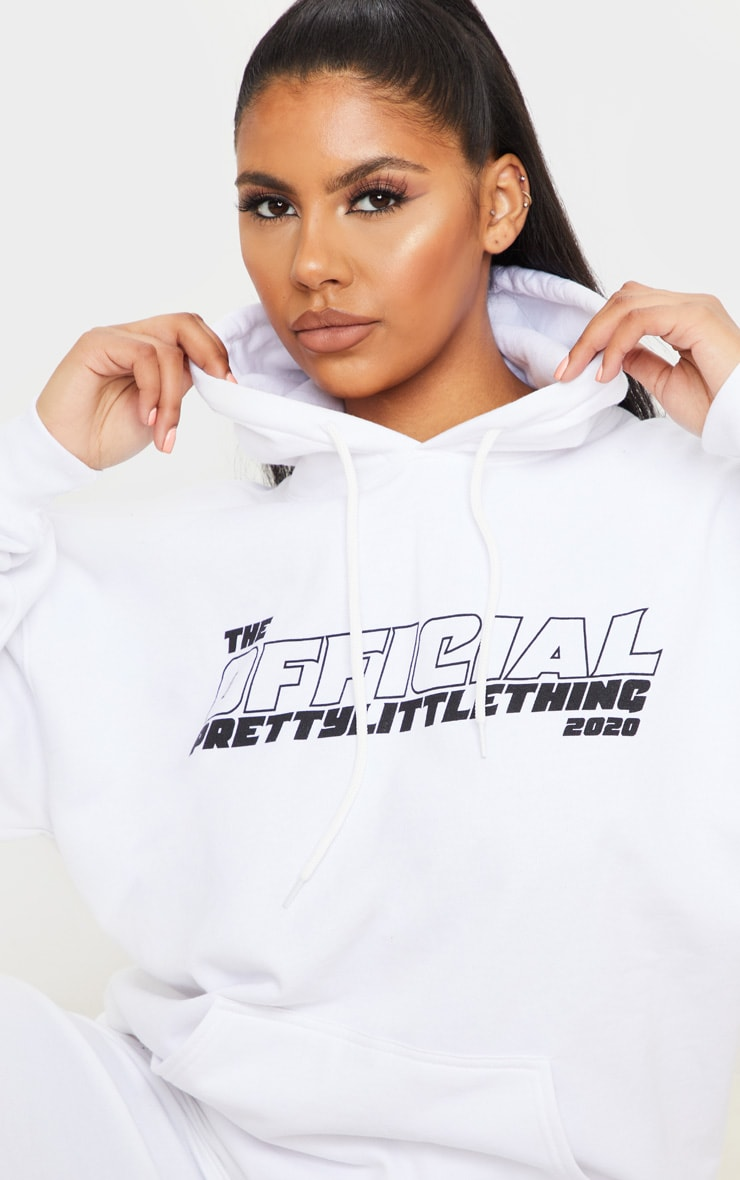 PRETTYLITTLETHING White The Official 2020 Hoodie 4