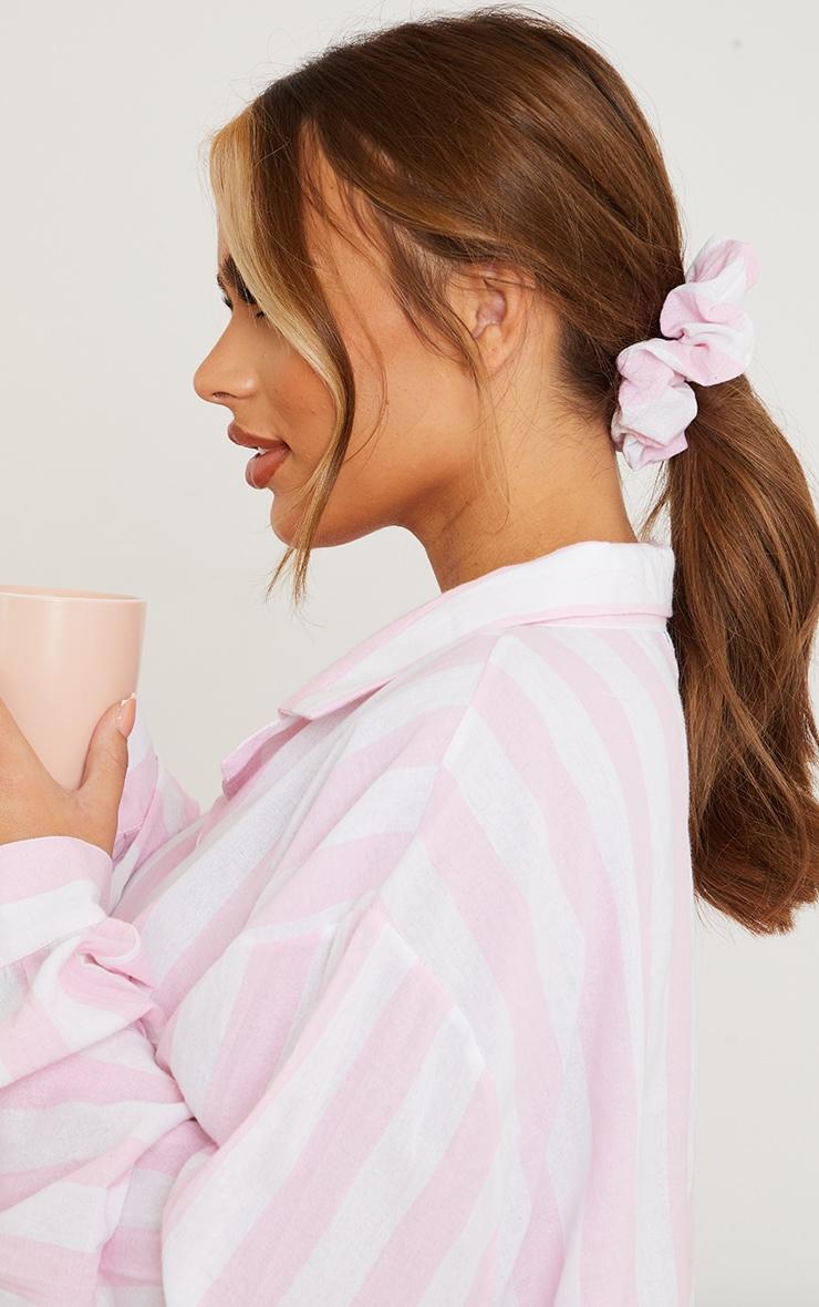 Maternity Pink Oversized Stripe Night Shirt  4