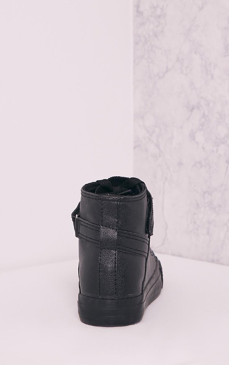 Oona Black High Top Sneakers 4