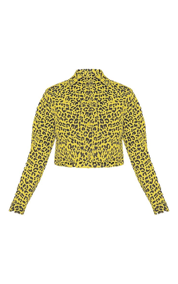 Yellow Leopard Denim Jacket 4