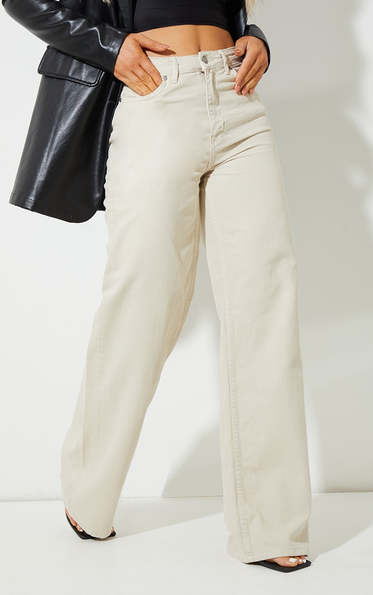 Recycled Stone Wide Leg Jeans 2