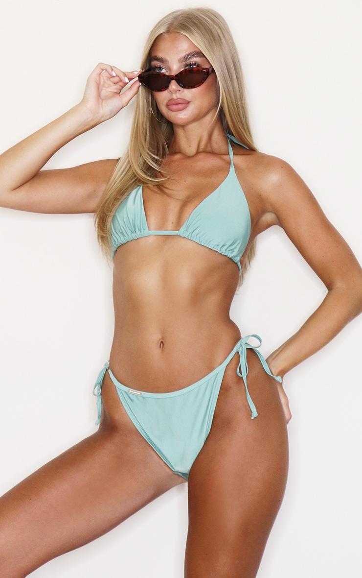Jade Green Mix & Match Triangle Bikini Top 1