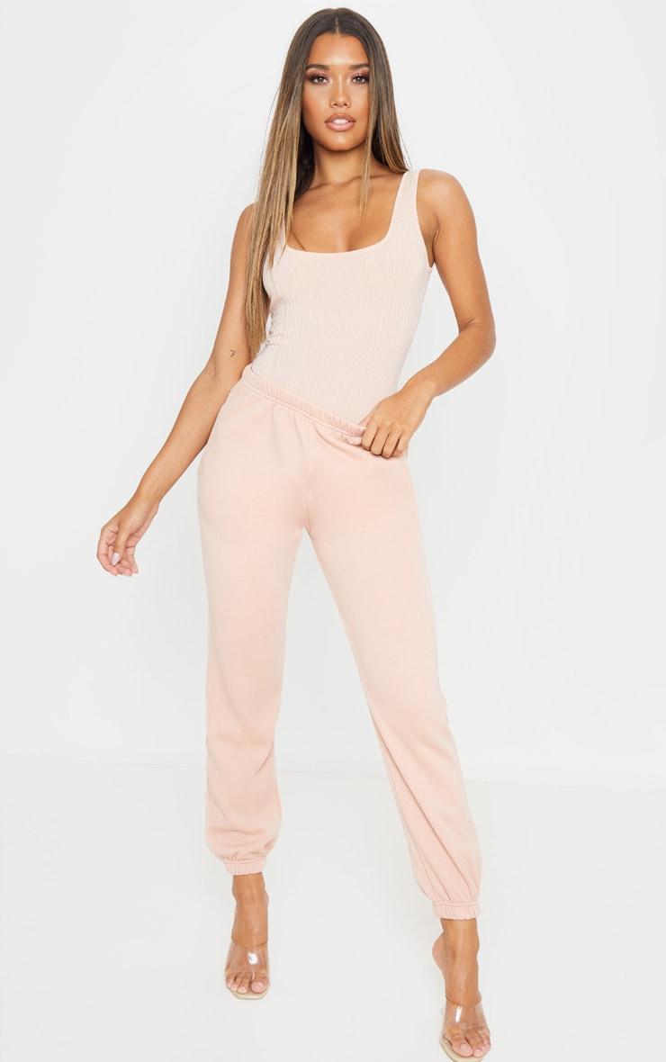 Blush Rib Scoop Neck Sleeveless Bodysuit 5