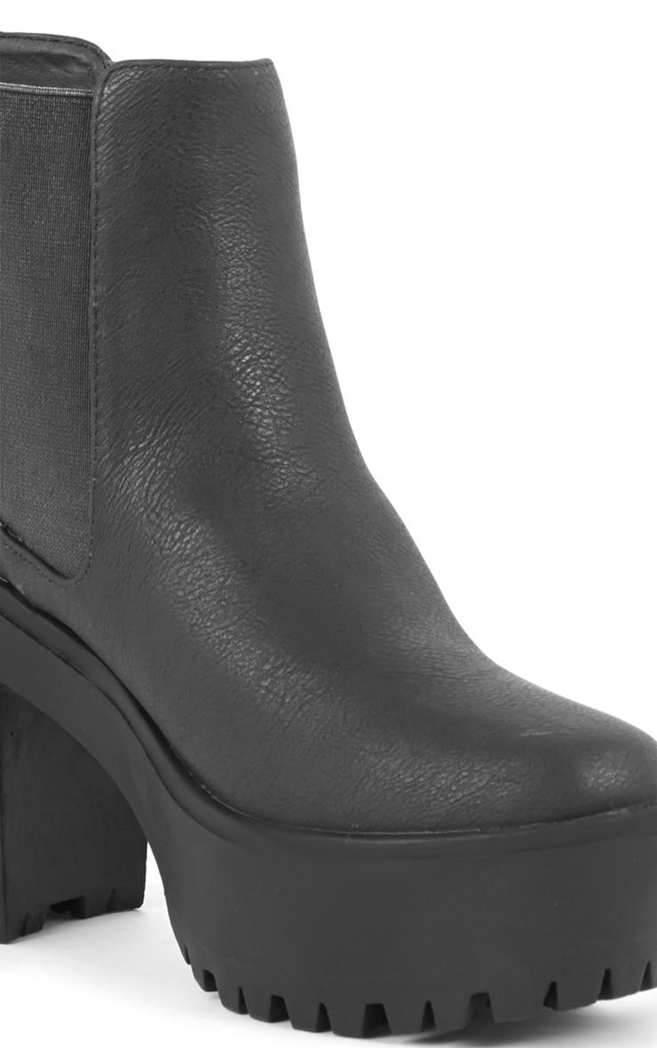 Jaida Black Chunky Chelsea Boot 2