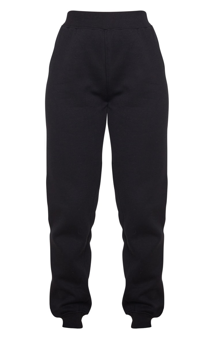 Black High Waist Skinny Joggers 5