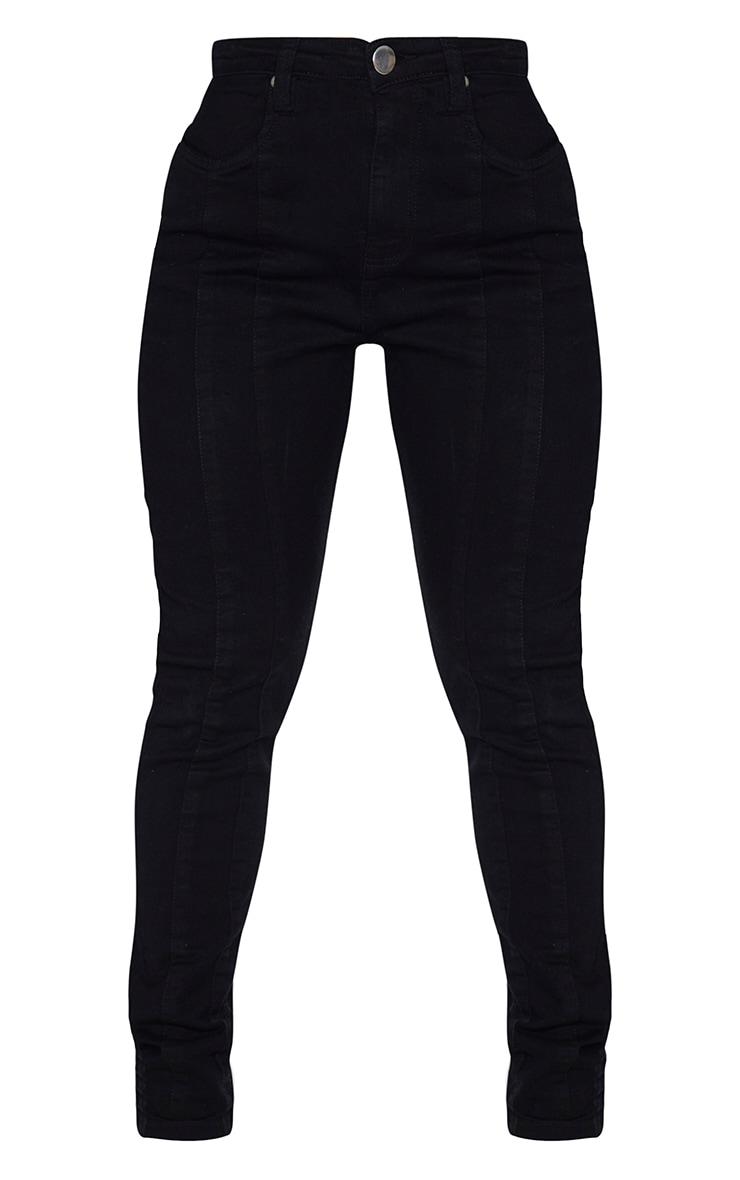 Shape Black Seam Detail Pocket Skinny Jeans 5