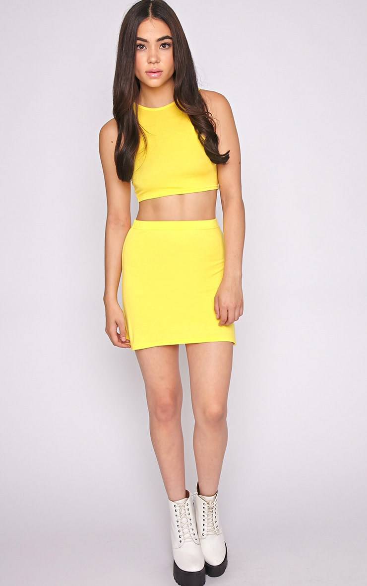 Madelyn Yellow Crop Top 4