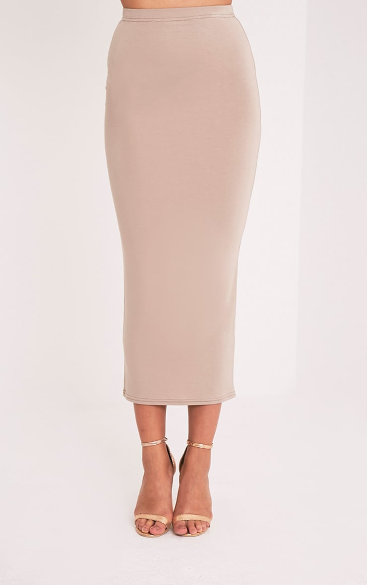 Basic Taupe Midaxi Skirt 2