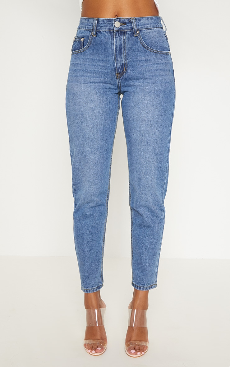 Low Rise Mom Mid Wash Jean 6