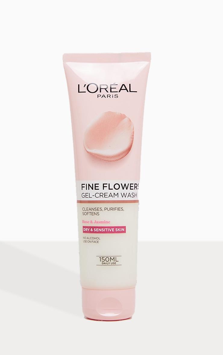 L'Oreal Paris Fine Flowers Cleansing Gel-Cream Wash 150ml 2