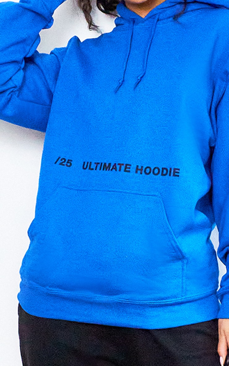 Royal Blue Ultimate Slogan Hoodie 4