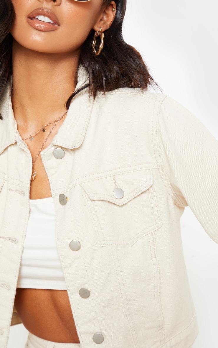 Veste en jean courte écru 5