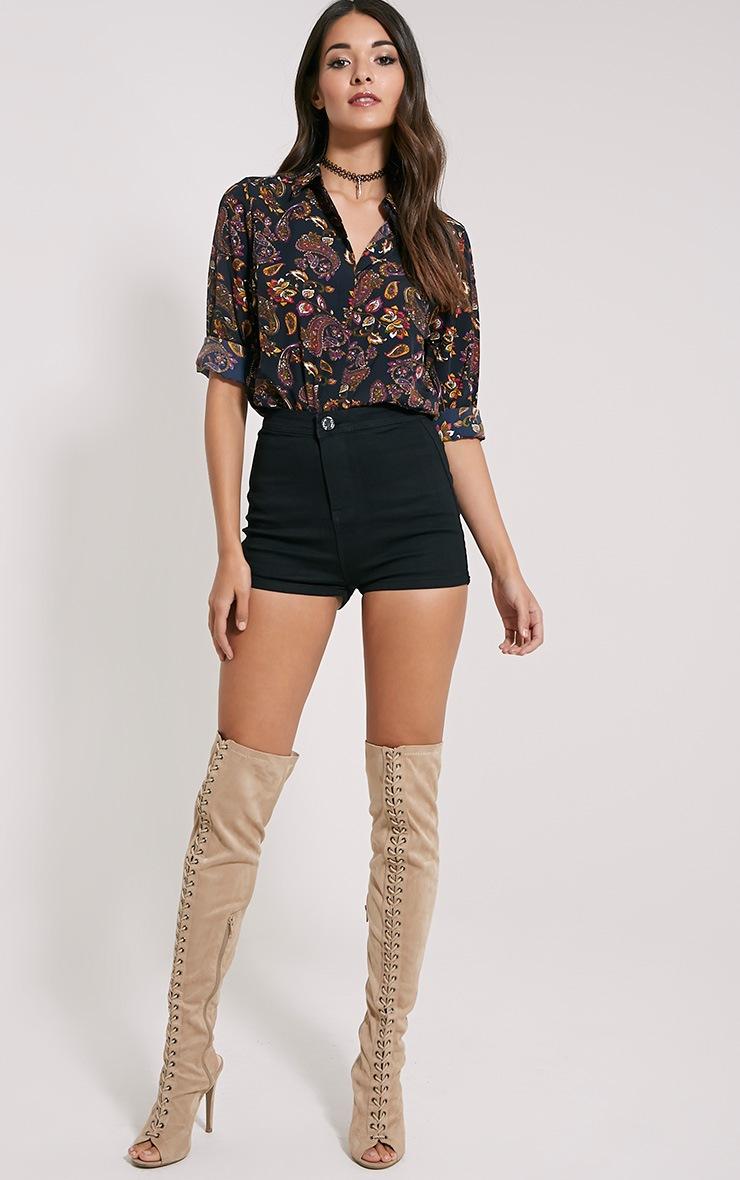 Haylie Black Paisley Shirt 3