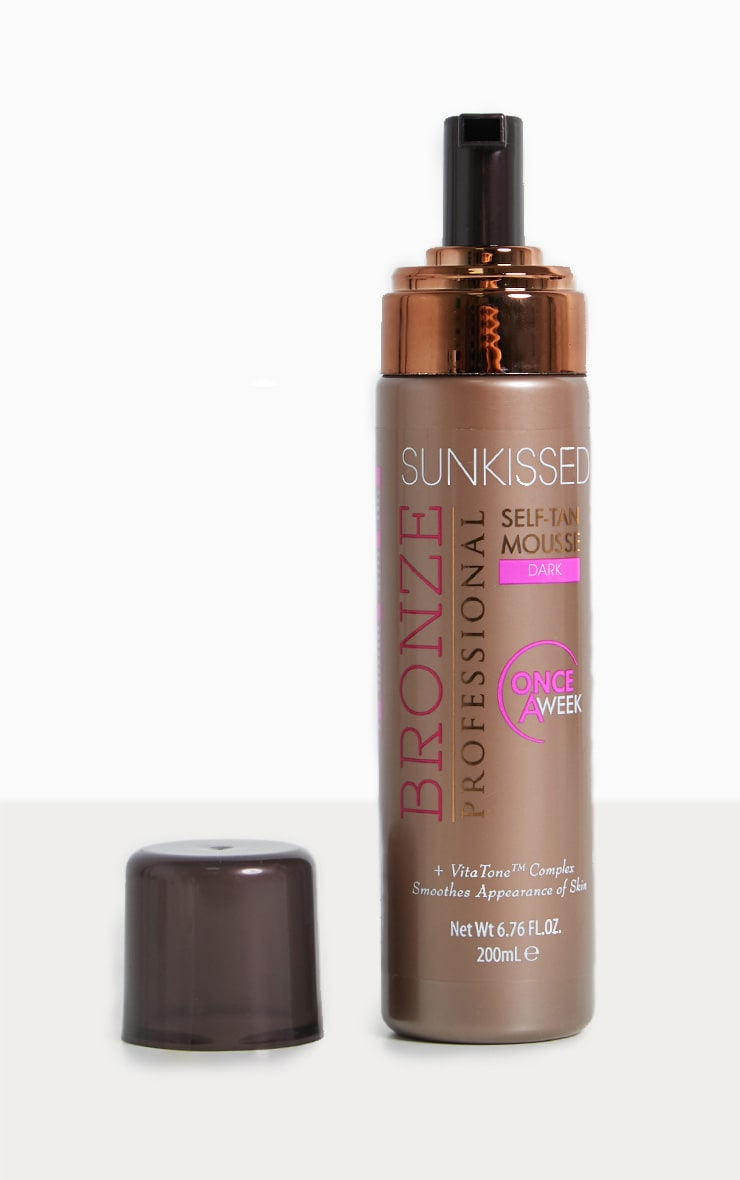 Sunkissed Once a Week Dark Self Tan Mousse 2