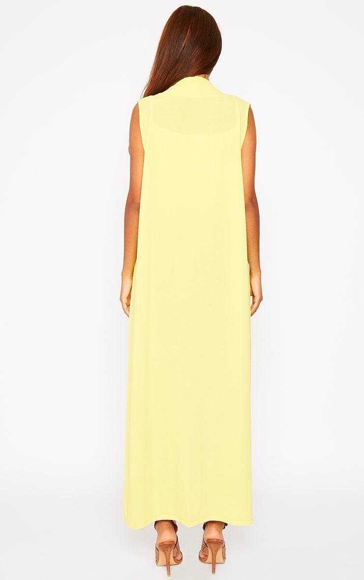 Georgena Yellow Sleeveless Duster Coat 2
