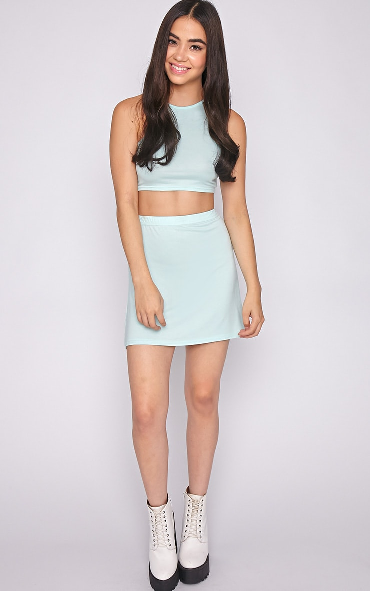 Madelyn Mint Crop Top 3