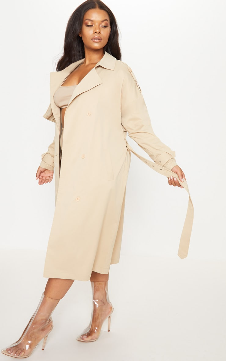 Plus Stone Trench Coat 4