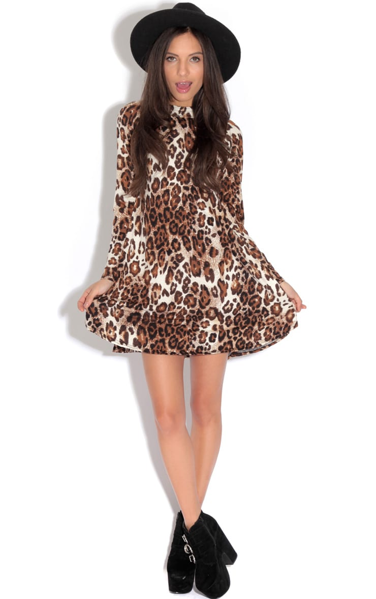 Bella Leopard Print Swing Dress 3