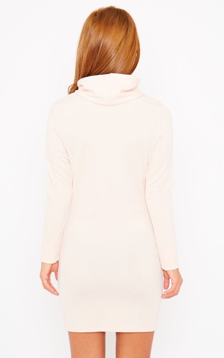 Catrina Nude Roll Neck Dress 2