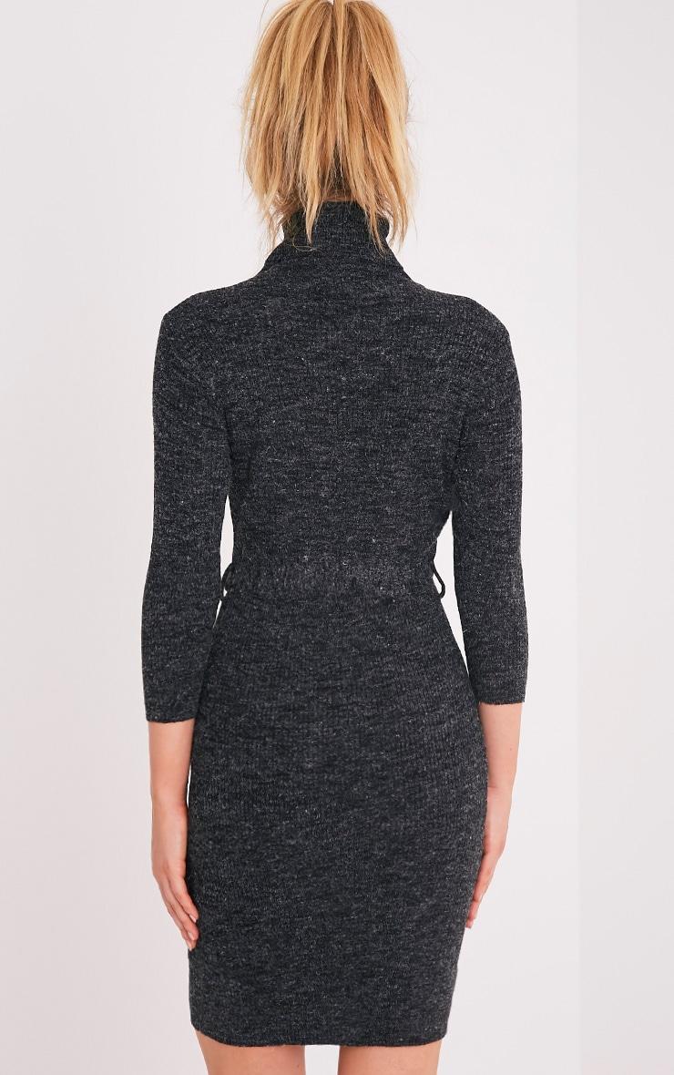Marla Black D Ring Knitted Jumper Dress 2