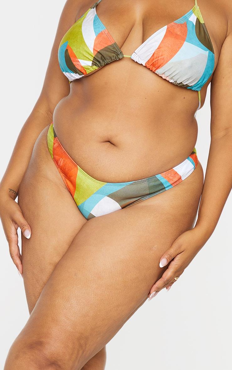 Plus Multi Abstract Printed Triangle Bikini Bottoms 4