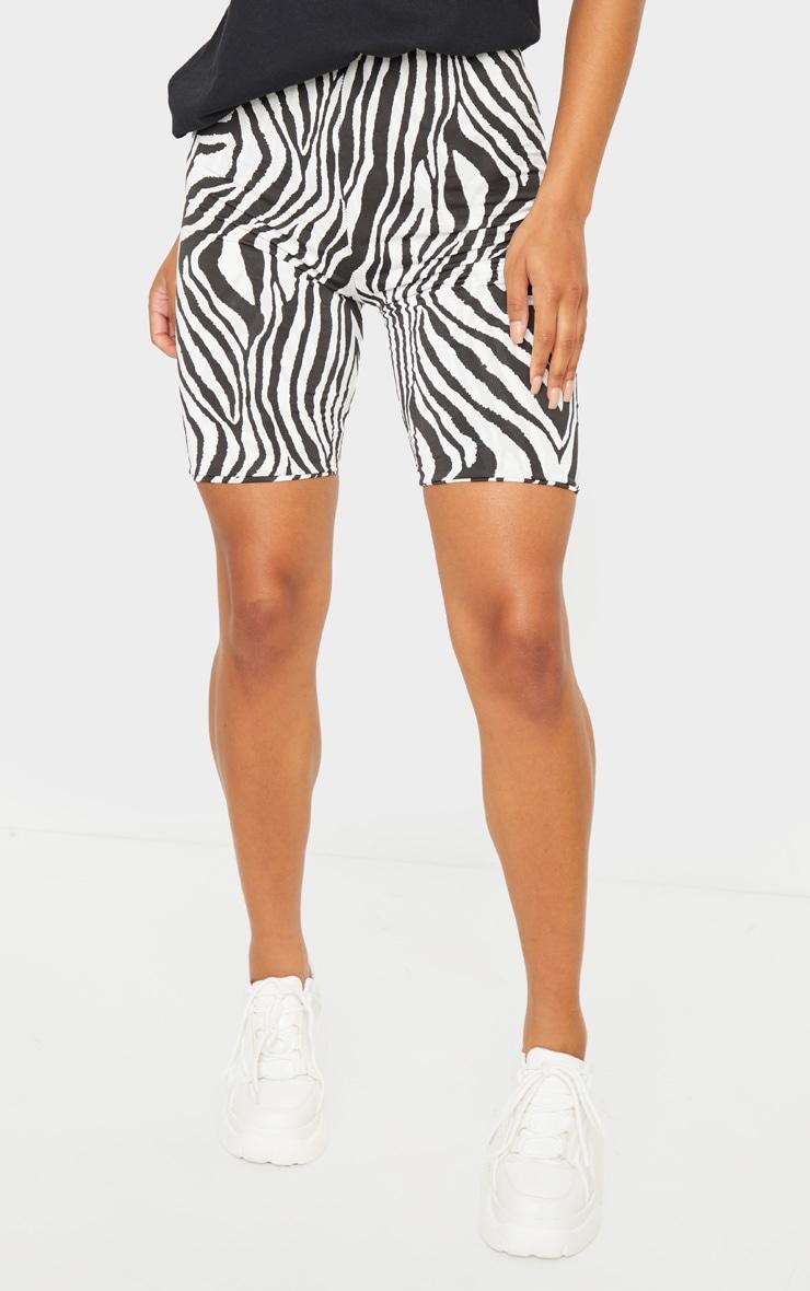 Black Zebra Slinky Bike Shorts 2