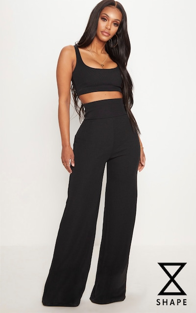 High Waisted Wide Leg Pants Shop Online Prettylittlething Usa