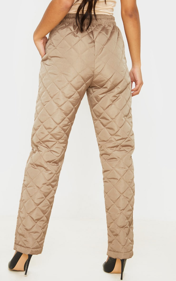 Stone Quilted Jogger  4